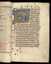 Illuminated Beatus Initial, In A Psalter